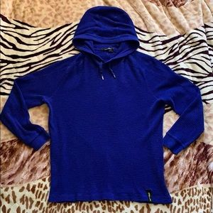 Polo Ralph Lauren RLX Thermal Hoodie Blue Large